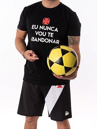 Camisa T-shirt Casal Wod Crossfit - EU NUNCA VOU TE ABANDONAR  (PRETA)