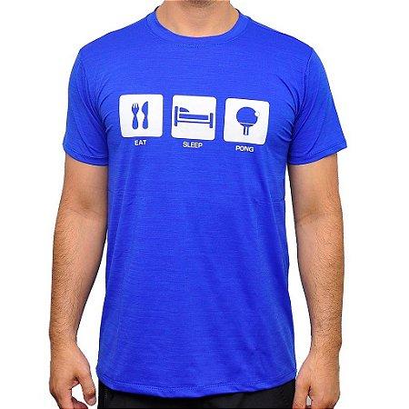 Camiseta Eat Sleep Pong Poliamida Masculina