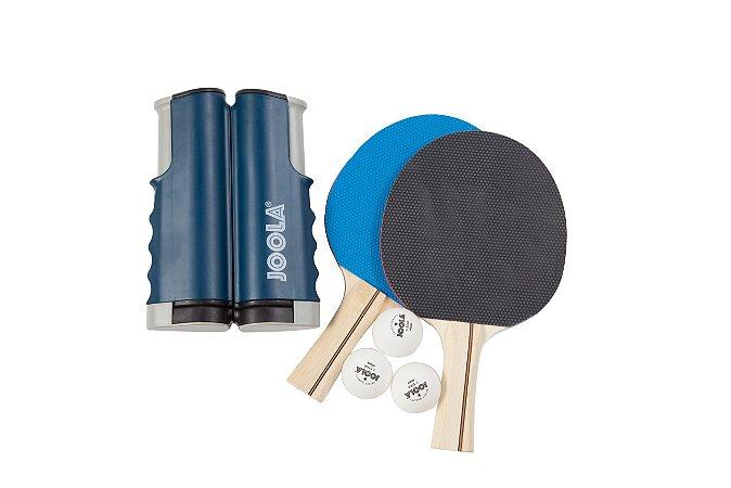 Joola Variant Set - kit com 1 rede retrátil, 3 bolas e 2 raquetes de tênis de mesa