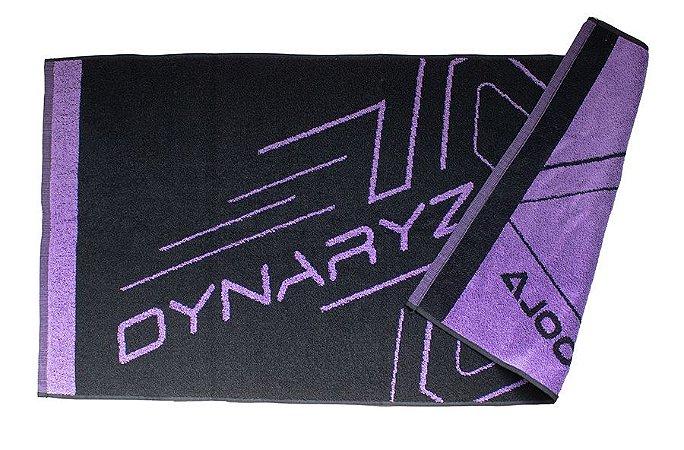 Toalha Dynaryz - Preto/Lilás 50x100cm