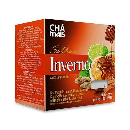 Chá Misto Sublime Inverno sabor Laranja e Mel  - CháMais - 10 Sachês