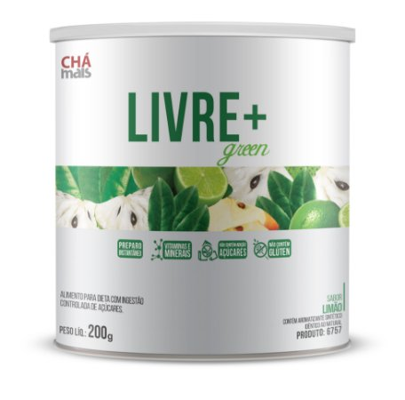 Livre+ Green sabor Limão Solúvel - CháMais - 200g