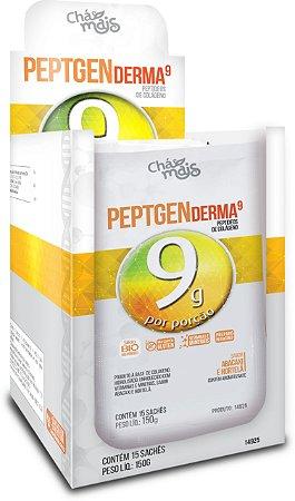 Colágeno Peptgen Derma 9g sabor Abacaxi e Hortelã Solúvel - CháMais - 15 Sachês