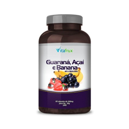 Guaraná, Açaí e Banana em cápsulas - Vitafrux - 60 caps