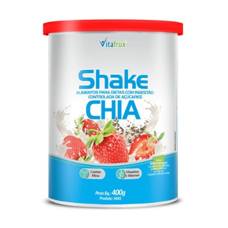 Shake de Chia sabor Morango - Vitafrux - 400g