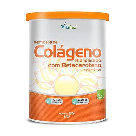 Colágeno com Betacaroteno - Solúvel - Vitafrux - 250g