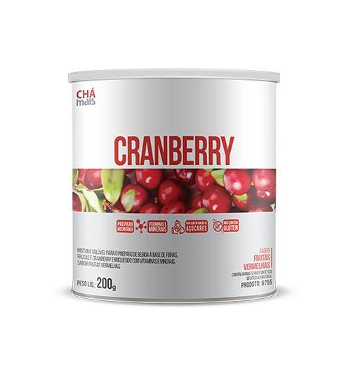 Cranberry sabor Frutas Vermelhas Solúvel - CháMais - 200g