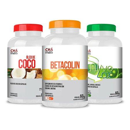 Combo - Óleo de Coco, Betacolin e Alive Lax