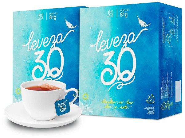 Chá misto Leveza 30 - 2 caixas de 60 sachês
