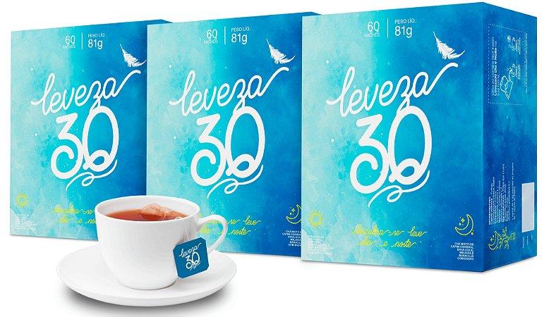 Chá misto Leveza 30 - 3 caixas de 60 sachês