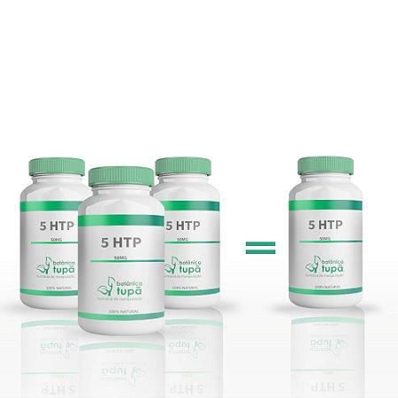 5 HTP 50 mg - Compre 3 e leve 4 frascos