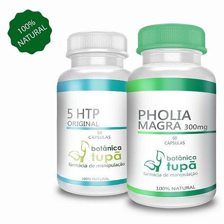 Duo Emagrecedor - Pholia Magra e 5 HTP - Auxilo a perda de peso