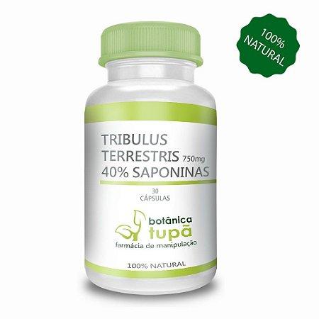 Tribulus 750mg Com Saponinas 40% Aumento da massa muscular