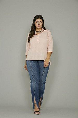 Blusa Plus Size Risca de Giz
