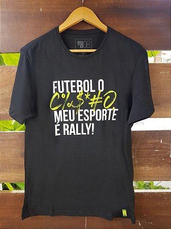 Camiseta Meu Esporte é Rally Preta