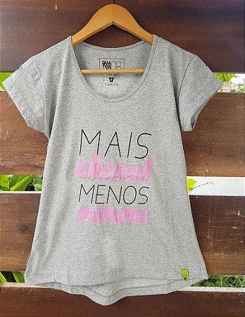 Camiseta Feminina Mais Uhul Cinza Mescla