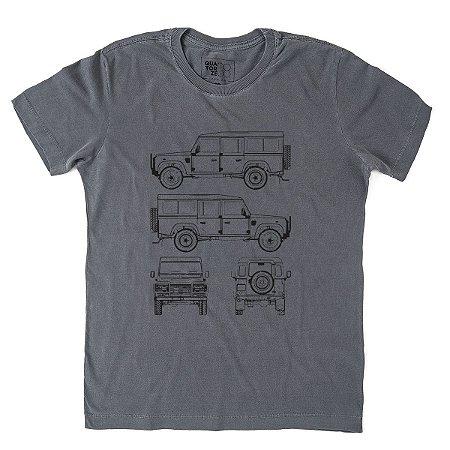 Camiseta Land Vetor Estonada Preta