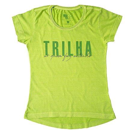 Camiseta Feminina Trilha Estonada Verde