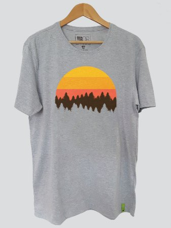 Camiseta Sol Floresta Cinza Mescla