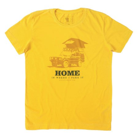 Camiseta Home Camping Amarela