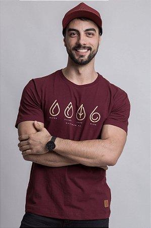 Camiseta Elementos Bordô
