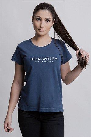 Camiseta Feminina Destinos Diamantina Azul Marinho
