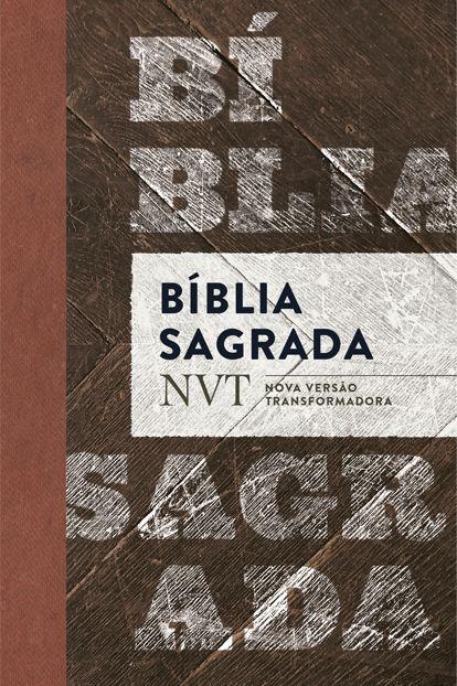 BÍBLIA SAGRADA NVT MADEIRA - LETRA NORMAL