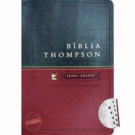 Bíblia Thompson Letra Grande  C/ indice  verde e vinho