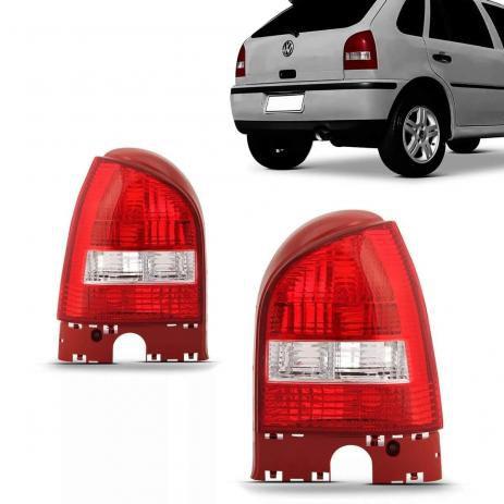 Lanterna Traseira Gol GIII Cristal Borda Vermelha (2000/2005) - Original RN