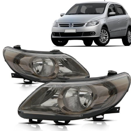 Farol Gol GV Duplo Cromo-Onix com Defletor e Logo VW (2008/2012) - Original ARTEB