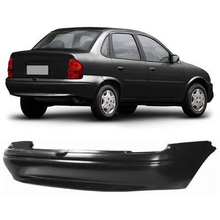 Pára-Choque Traseiro Corsa Sedan Preto Liso (1996/2003) - LUMAX