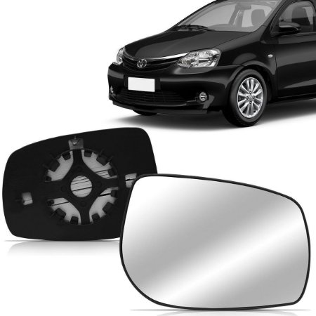 Lente Retrovisor Etios Com Base (2012/2013)  - METAGAL