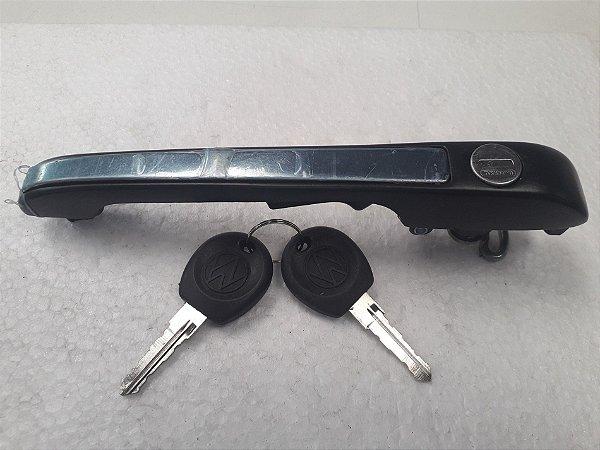 Maçaneta Externa Porta Dianteira Com Chave Passat (1977/1988) - Preto Fosco