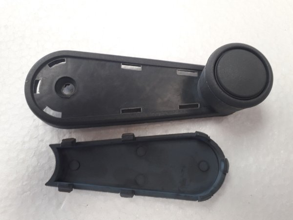 Manivela Reguladora Vidro Gol/Parati/Saveiro GII 2 Portas - Plástica/Cinza