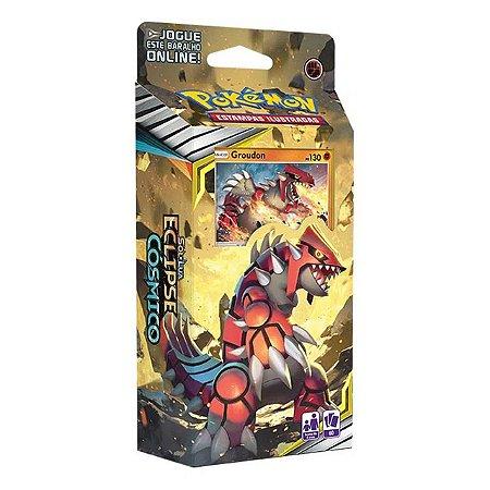 Deck Pokémon Sol E Lua Eclipse Cósmico Groudon Copag