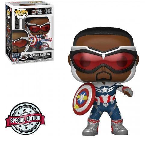 Funko Pop Marvel The Falcon And The Winter Soldier Captain America #818