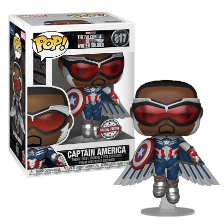 Funko Pop Marvel The Falcon And The Winter Soldier Captain America #817