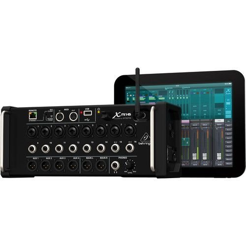 Mesa de Som digital Behringer X-Air XR16 p/ iPad/Android c/ 16 Canais e Gravação USB