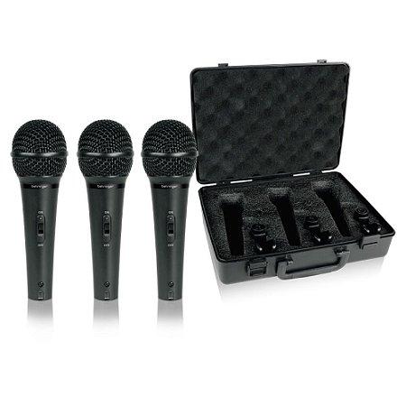 KIT Microfone Dinâmico Profissional Behringer XM1800S KIT com 3