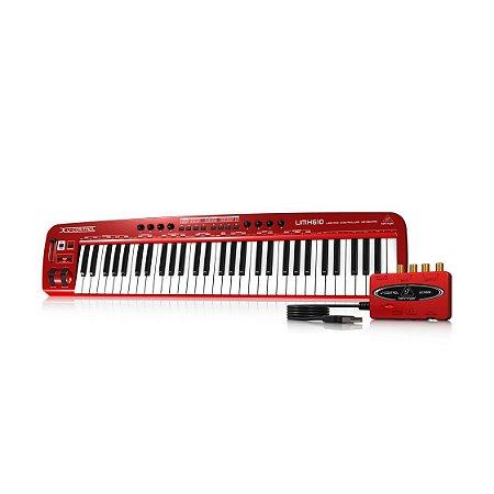 Teclado Controlador Behringer UMX610 MIDI/US