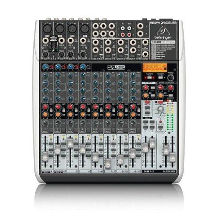 Mesa de Som 12 canais QX1622USB Behringer com efeitos Klark Teknik