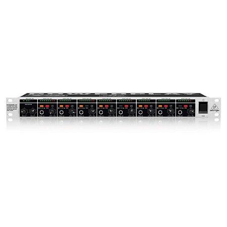 Amplificador de Fones de Ouvido PowerPlay Behringer HA8000 c/ 8 canais