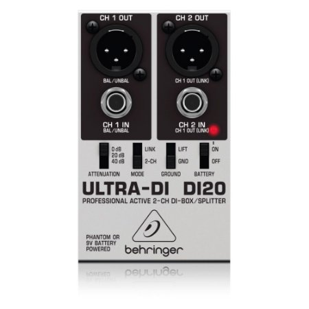 Direct Box Ativo 2 canais Behringer DI20 Ultra-DI