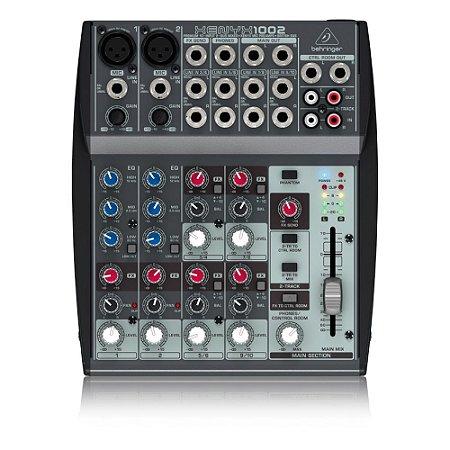 Mesa de Som Behringer Xenyx 1002 c/ 10-inputs e Bus estéreo