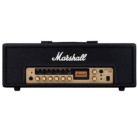 Amplificador Marshall CODE100H Cabeçote para Guitarra 100W c/ Simulador
