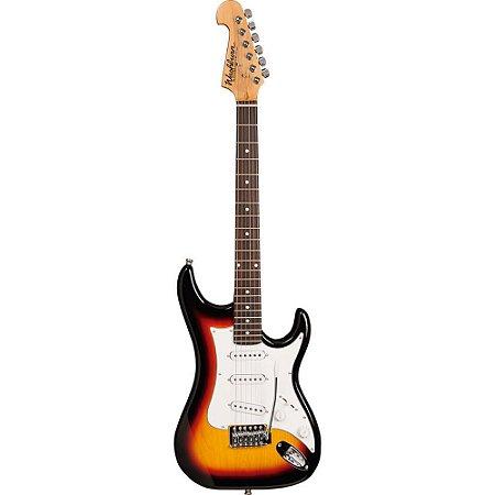 Guitarra Washburn S1TS tobacco sunburst com headstock invertido e captacao S/S/S