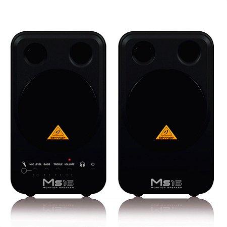 Monitor de Referência Behringer MS16 (par)