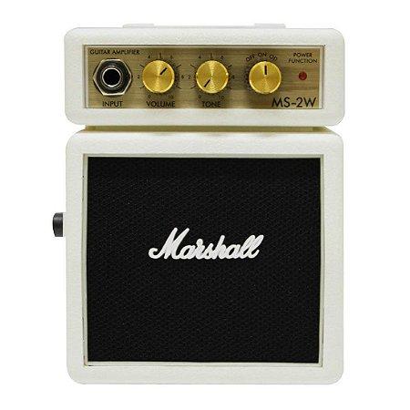 Micro Amplificador Marshall MS-2W Combo para Guitarra