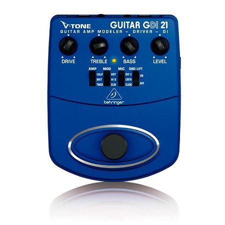 Pedal para Guitarra Behringer V-Tone GDI21 c/ simulador