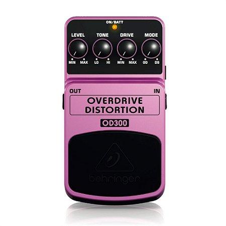 Pedal para Guitarra Behringer OD300 Overdrive Distortion